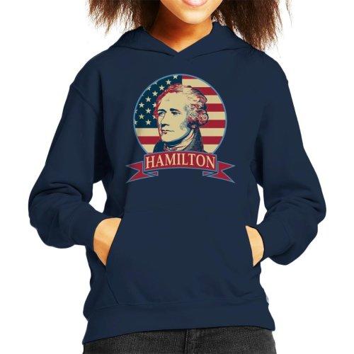 Alexander Hamilton Banner Kid's Hooded Sweatshirt