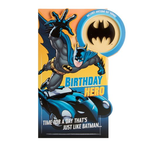 "Hallmark Batman Birthday Card""Signal Projector"" - Medium"