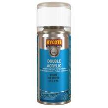 Hycote Double Acrylic Volvo Ice White Spray Paint - 150ml
