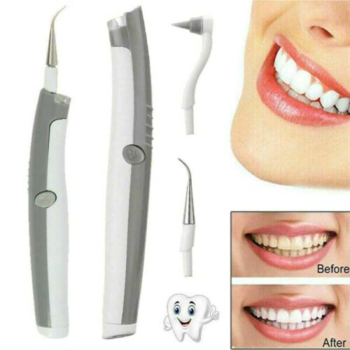 Ultrasonic Electric Teeth Stains Cleaner Kit Polisher Plaque Teeth Cleaning Tool