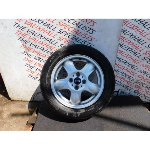 Mini Hatch Cooper One 06-13 Single Alloy Wheel + Tyre 15 Inch 6769404 Scratches - Used