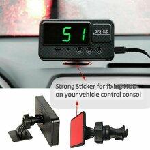 UK Car Bus Van Head-up Display HUD GPS Digital LED Speed Limit Warning For Car
