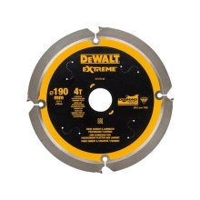 DEWALT DT1472-QZ Extreme PCD Fibre Cement Saw Blade 190 x 30mm x 4T