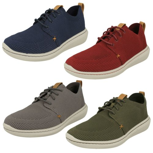Mens Clarks Casual Lace Up Shoes Step Urban Mix - G Fit