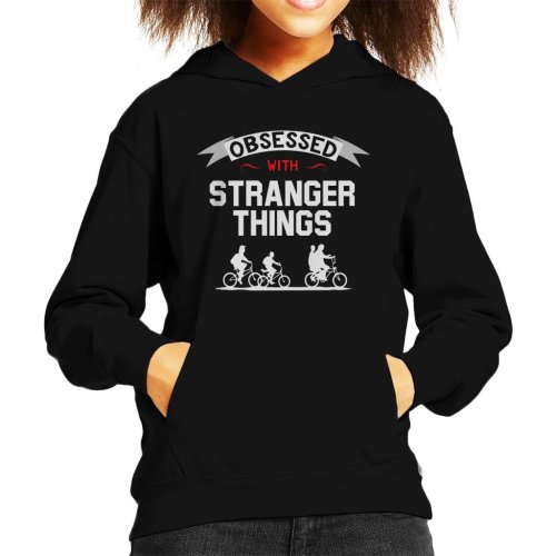 Obsessed With Stranger Things Kid's Hooded Sweatshirt