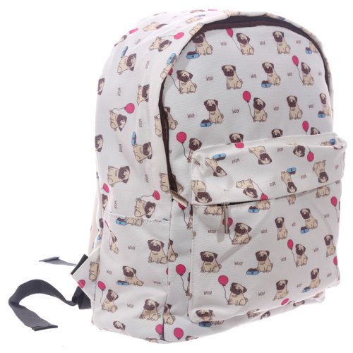 Handy Kids School and Everyday Rucksack - Pug Design