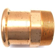 """Pegler Yorkshire Xpress Straight Male Connector Press Fit X BSP 67mm 2 1/2"""""""