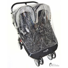 Raincover Compatible With Red Kite Push Me Twini Jogger Twin Double Pushchair (2
