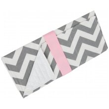 '  Changing Pad, Gray & Pink Chevron