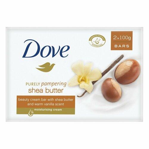 Dove Soap Shea Butter 100g Vanilla Scented Moisturising Skin Care