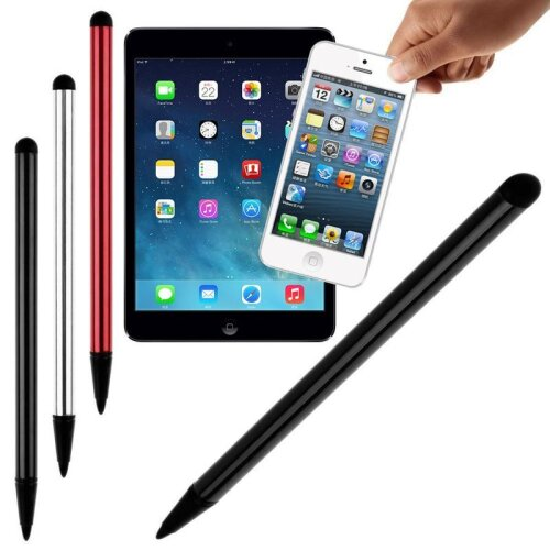 (1PC Red) Capacities Resistivity Pen Touch Screen Stylus Pencils Tablet iPad Cell Phone PC