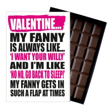 Funny Valentines Day Gift For Boyfriend Naughty Present for Men Chocolate Card