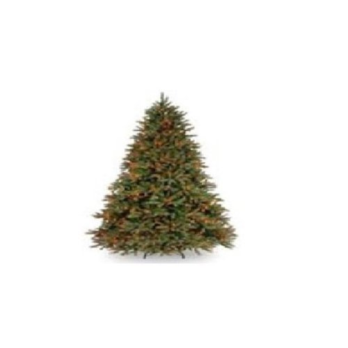 National Tree PEJF1-301-65 6.5 ft. Feel Real Jersey Fraser Fir Tree with 800 Multi Lights