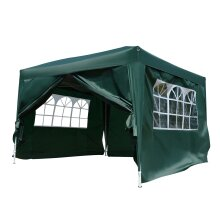 Outsunny 3(m)x3(m) Pop Up Gazebo Party Tent Canopy Marquee Water Resistant Free