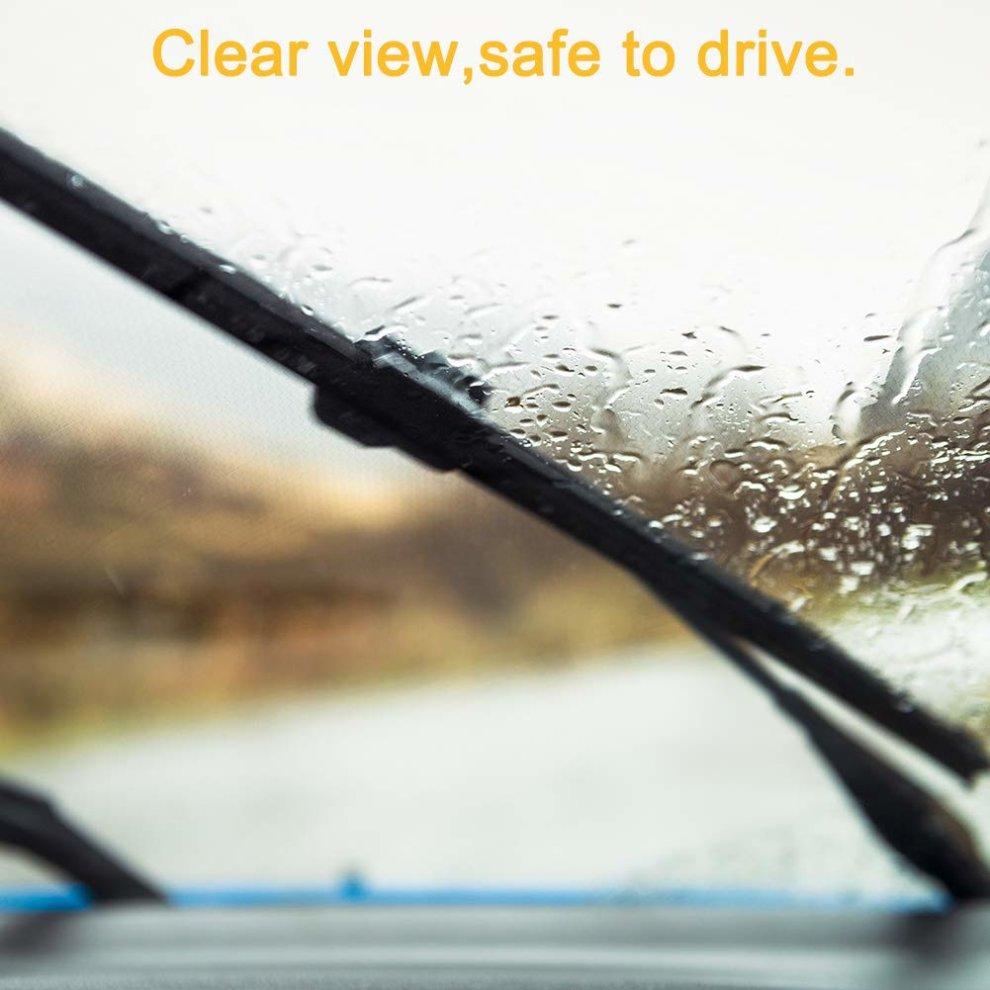 Qiilu 3Pcs Car Front Rear Wiper Blade Windscreen Windshield Wiper Blade 26//16//12 Inch