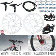 Bike Disc Brake Set Front Rear Caliper Rotor Crank Bicycle MTB Kit