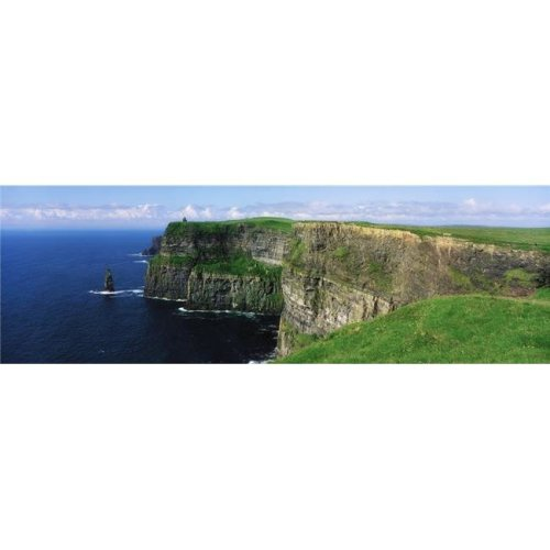 Cliffs of Moher Co Clare Ireland - Cliffs On The Atlantic Ocean Poster Print by The Irish Image Collection, 44 x 14 - Large