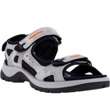 ECCO Womens Yucatan Summer Walking Trail Hook And Loop Sandals - Grey