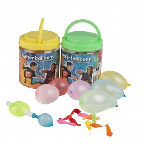 500pc Multi-Coloured Water Balloons With Pump