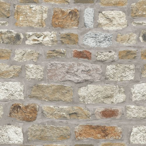 Arthouse Country Stone Pattern Wallpaper Rustic Faux Brick Effect Realistic 696500