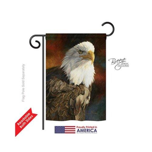 Breeze Decor 60060 Wildlife & Lodge Portrait of an Eagle 2-Sided Impression Garden Flag - 13 x 18.5 in.