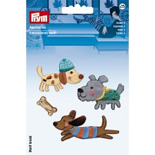 Prym Iron On Patch Set 4 Dog Theme Quality Motif Trimming Application