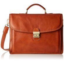 43x31x10 cm - Leather Briefcase - Made in Italy