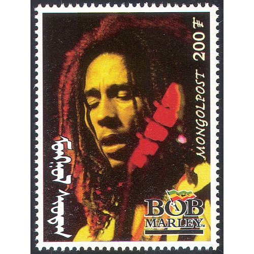 Mongolia 1998 BOB MARLEY  /  Reggae  /  Music  /  Musicians  /  Singers  /  Entertainment 1v  n17501