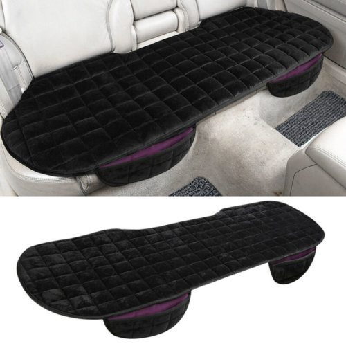 Black Universal Rear Car Auto Seat Cover Plush Protector Chair Cushion