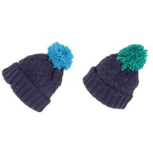 Childrens/Kids Knit Feel Bobble Hat