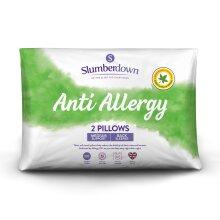(Medium, 2 Pack) Slumberdown Anti Allergy Pillow
