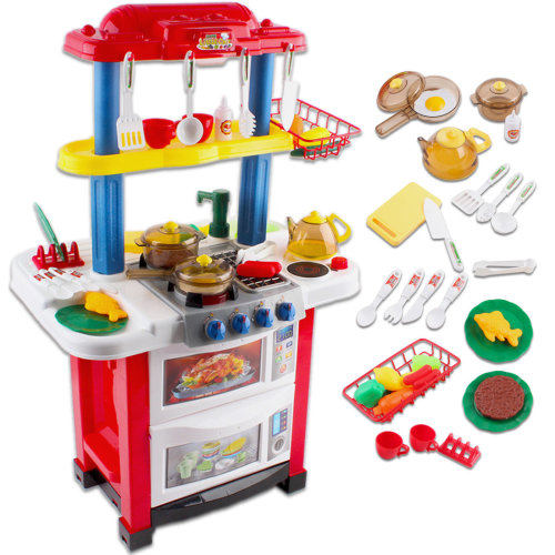 deAO Toys Happy Little Chef Play Set | Kids' Play Kitchen & Accessories