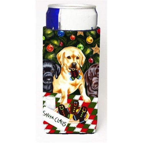 Santas Helpers in Christmas Stockings Labrador Michelob Ultra Can coolers for Slim Cans