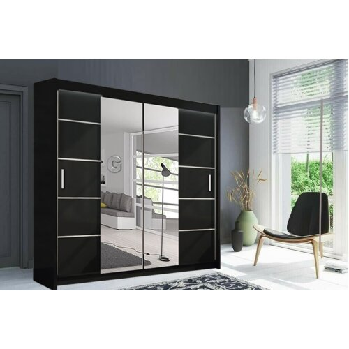 Pretty Design Oslo Wardrobe in 4 Sizes and 3 Color with 2 LED