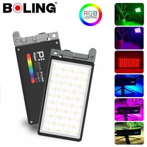 Boling P1 RGB Pocket LED Video Light 2500-8500K For Studio DSLR Camera