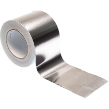 "Gocableties Aluminium Foil Adhesive Insulation Tape 50metres x 100mm (4"") Silver Premium Metal Roll"