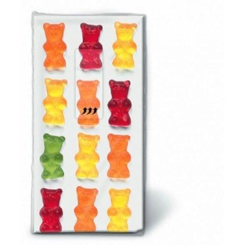 (Jelly Babies) Paper Novelty Tissues -  Pocket / Handbag