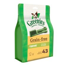 Greenies Grain Free Teenie Size 43 count 12 oz | Dental Chew Treats for Dogs