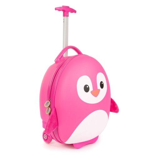 Boppi Tiny Trekker Wheeled Kids Luggage | Suitcase | Bag Pink Penguin