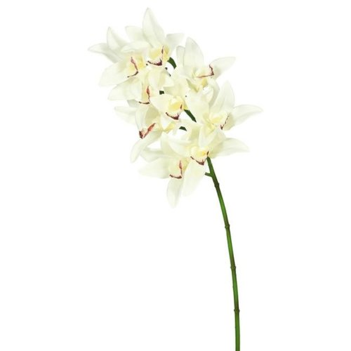 Vickerman FA172001 Real Touch Orchid-9 Heads-Cream Floral Stem