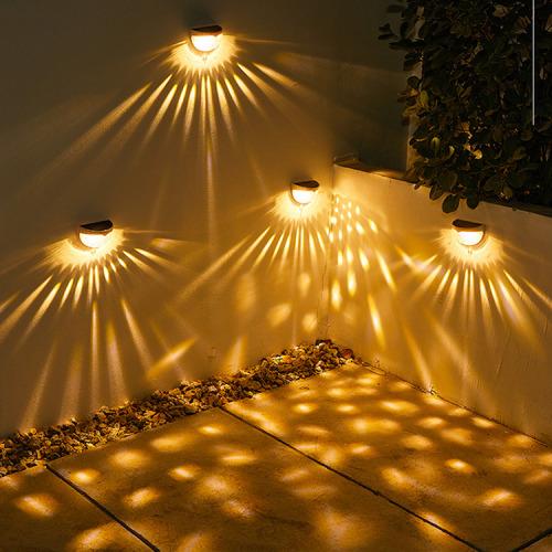 Shadow Light Solar Fence Lights Solar Decorative Garden Lights Waterproof Warm White