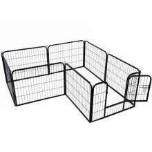 Pawhut Pet Cage Guinea Dog Pig Puppy Playpen Play House Steel Hutch Metel Black