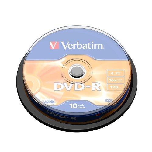 Verbatim 43523 DVD-R 16x 10 Pack Spindle 43523