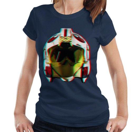 Original Stormtrooper Rebel Pilot Helmet 3D Effect Women's T-Shirt