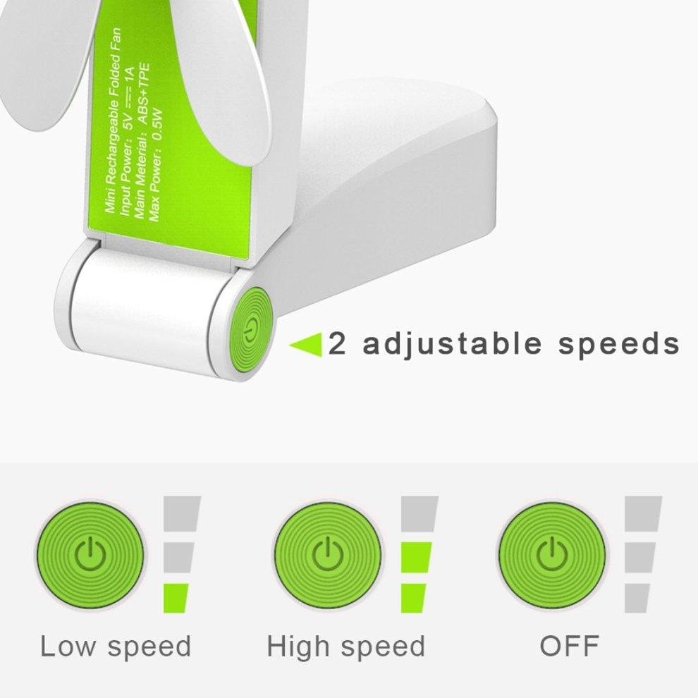 Hand Fan Battery Operated Genround Hand Held Fan Mini Portable Fan USB Travel