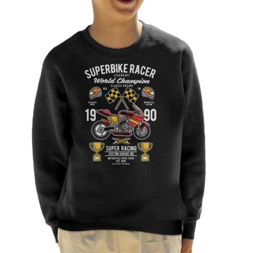 Superbike Racer World Championship Kid's Sweatshirt