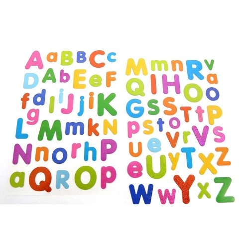 Coloured Alphabet Letters Stickers - Kids / Childrens Labels for party bags , scrap books , card making or notebook decoration