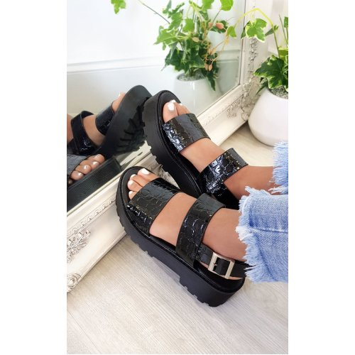 IKRUSH Womens Eve Buckle Chunky Sandals