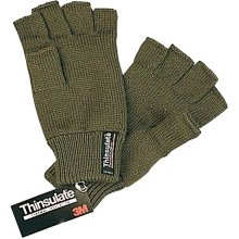 Bisley Thinsulate Fingerless Gloves Green
