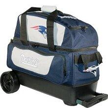KR Strikeforce New England Patriots Double Roller Bowling Bag